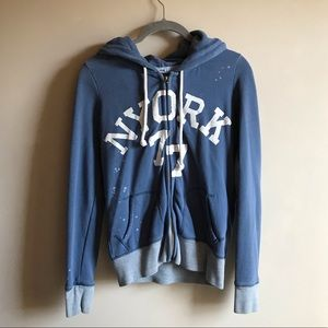 American Eagle Zip up Fitted Hoodie